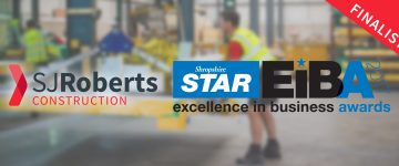 SJ Roberts Construction at Shropshire Star Excellence in Business Awards